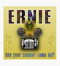 Ernie and the Premium Bonds Photographic Print