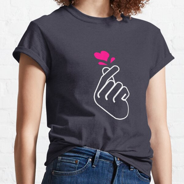 K-Pop Hand Symbol Salanghae KPOP and Chill Korean Music Bias BTS Star Classic T-Shirt