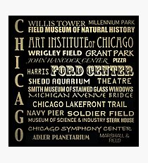 Chicago Illinois Famous Landmarks Photographic Print