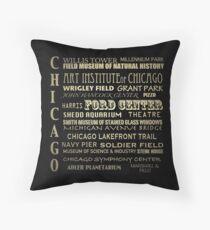 Chicago Illinois Famous Landmarks Throw Pillow