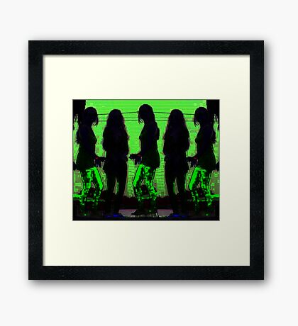 Girls just wanna have fun Framed Print