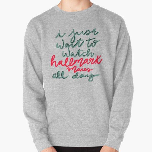 Weihnachten Pullover Damen This is My Hallmark Christmas Movies Watching Shirt Weihnachtsmann Christmas Sweatshirt Langarm Tops f/ür Frauen
