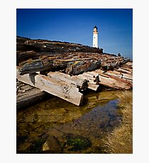 Branes Ness Lighthouse Photographic Print
