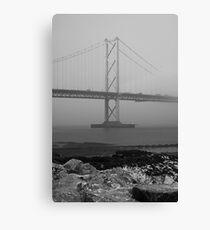 Misty Forth Road Bridge. Canvas Print