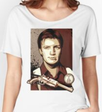 Malcolm Reynolds from Firefly in Shepard Fairey Obama Poster Style Women's Relaxed Fit T-Shirt