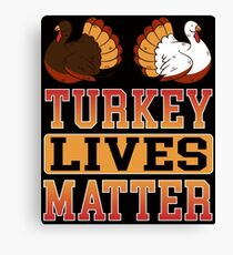 Savvy Turtle Turkey Lives Matter Canvas Print