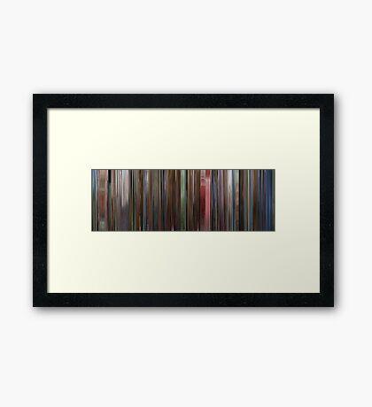Moviebarcode: The Shining (1980) Framed Print