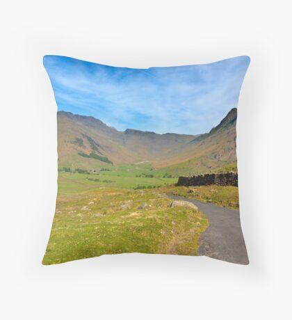 Mickleden Valley Road Throw Pillow