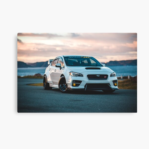 wrx sti car in sunset Canvas Print