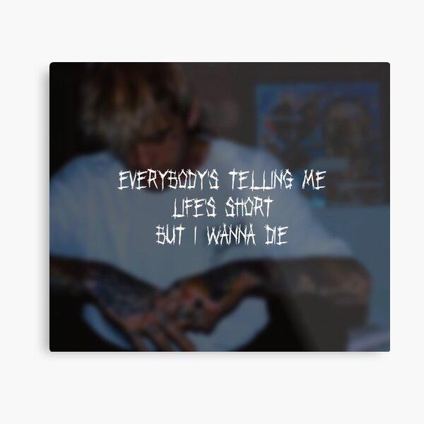Lil Peep The Brightside Ubersetzung Und Songtext Lyrics Liedtexte Metallbild Von Shoxio Redbubble