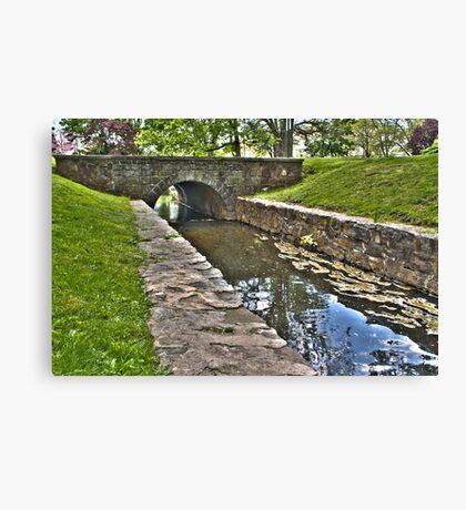 Shallow Bridge HDR Canvas Print