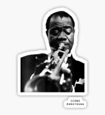 Iconic Stars Louis Armstrong Sticker