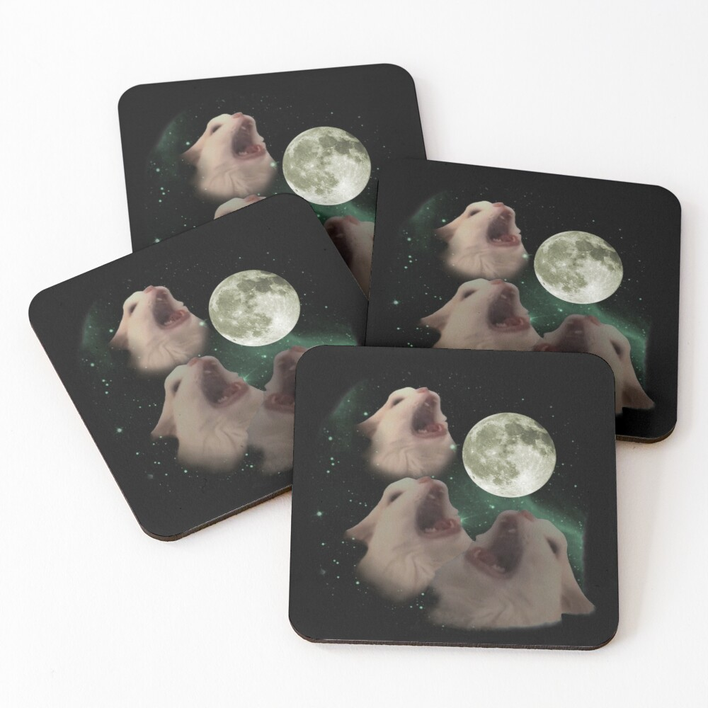 Three Thurston MOON 80's Like Coasters (Set of 4)