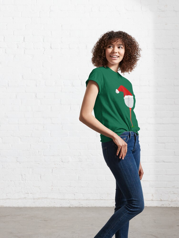 Alternate view of Christmas Golf - Holiday Hole in One Classic T-Shirt