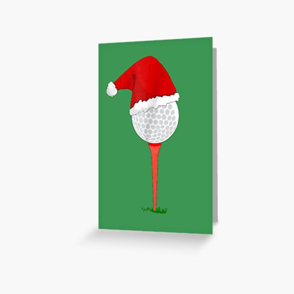 Christmas Golf - Holiday Hole in One Greeting Card