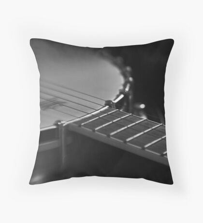 Where body and neck collide (banjo case study) Throw Pillow