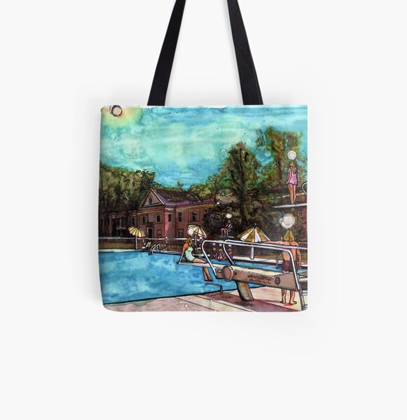 Poolside with The Jaynes No. 3 All Over Print Tote Bag
