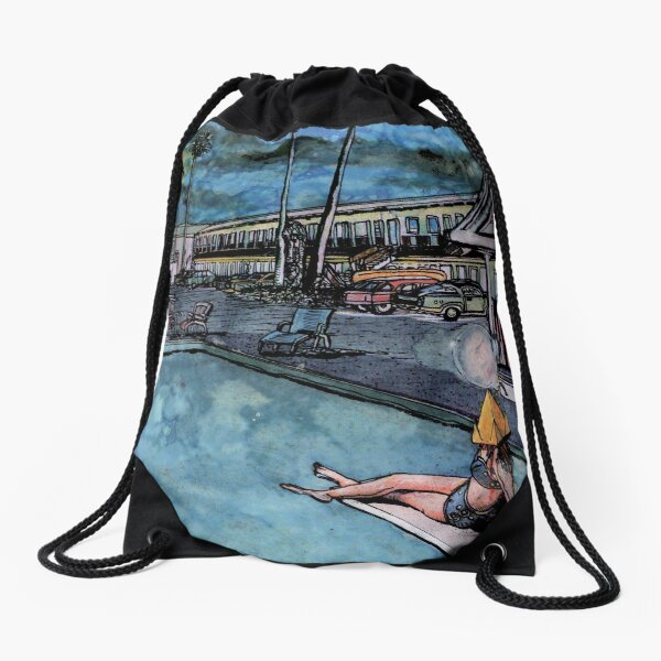 Poolside with The Jaynes No. 2 Drawstring Bag