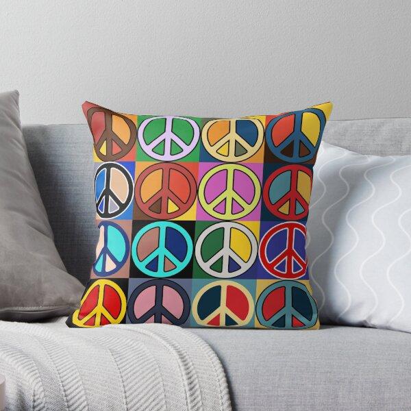Peace Mosaic Throw Pillow