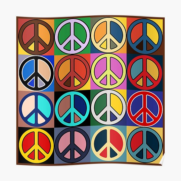 Peace Mosaic Poster
