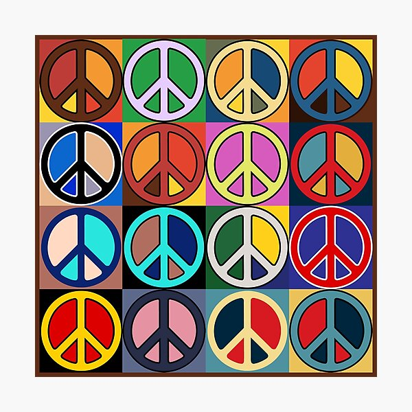 Peace Mosaic Photographic Print