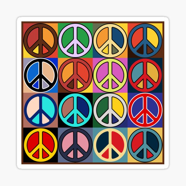 Peace Mosaic Sticker