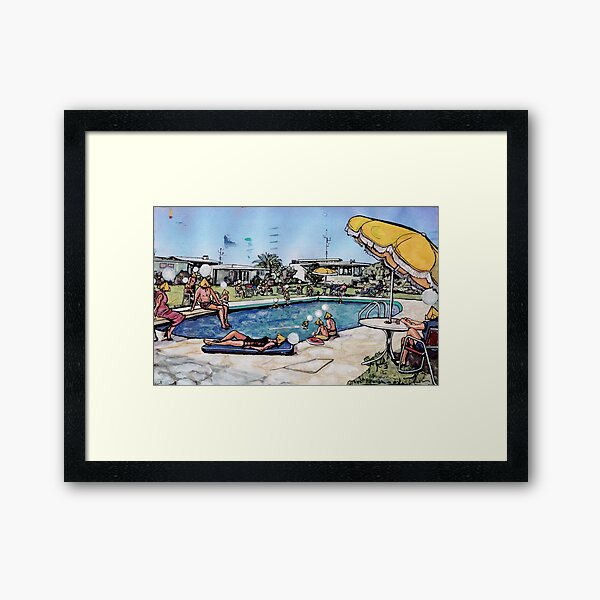 Poolside with The Jaynes No. 1 Framed Art Print