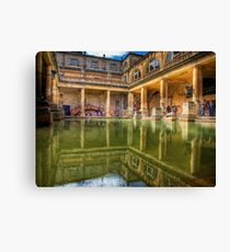 The Great Bath, in Bath, U.K. Canvas Print