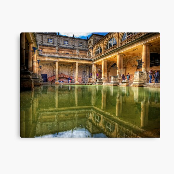 The Great Bath, in Bath, U.K. Canvas Print