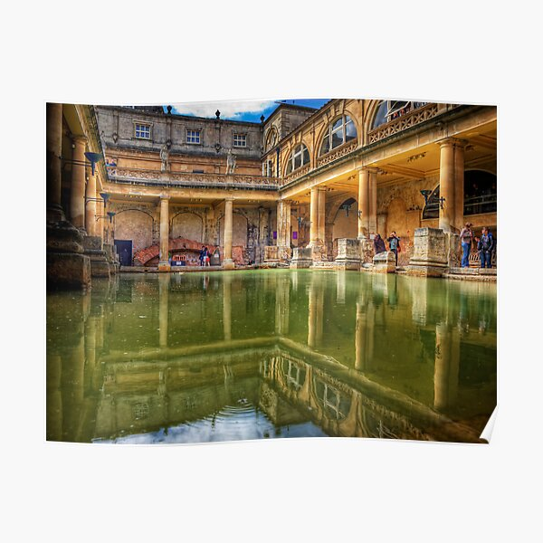 The Great Bath, in Bath, U.K. Poster