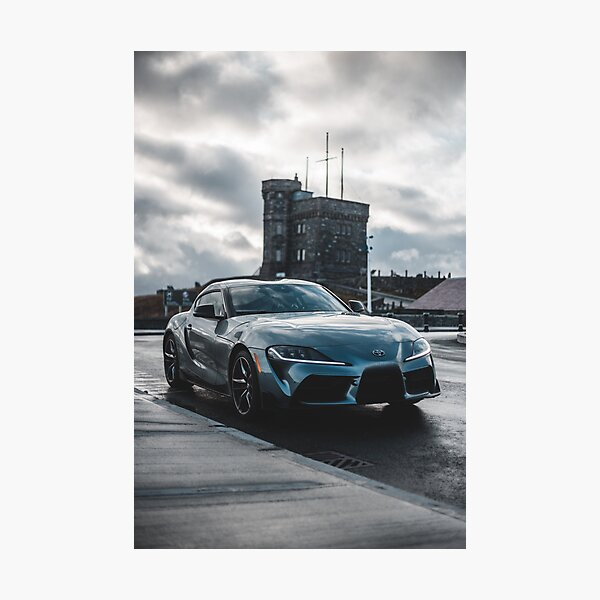 silver 2020 toyota supra gr Photographic Print