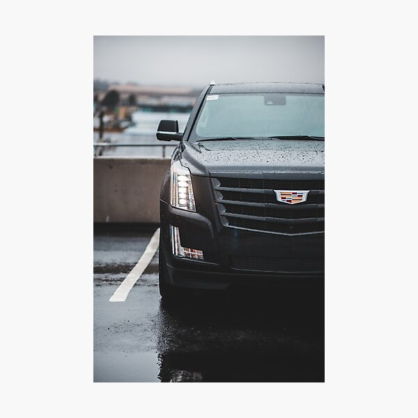 black 2020 cadillac escalade parked Photographic Print