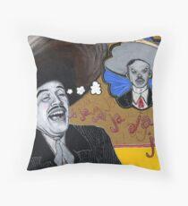 Santo Sueño: Pedro Infante vs. Jorge Negrete Throw Pillow