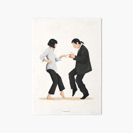 Pulp Fiction Twist Dance | Pop Culture Art Art Board Print