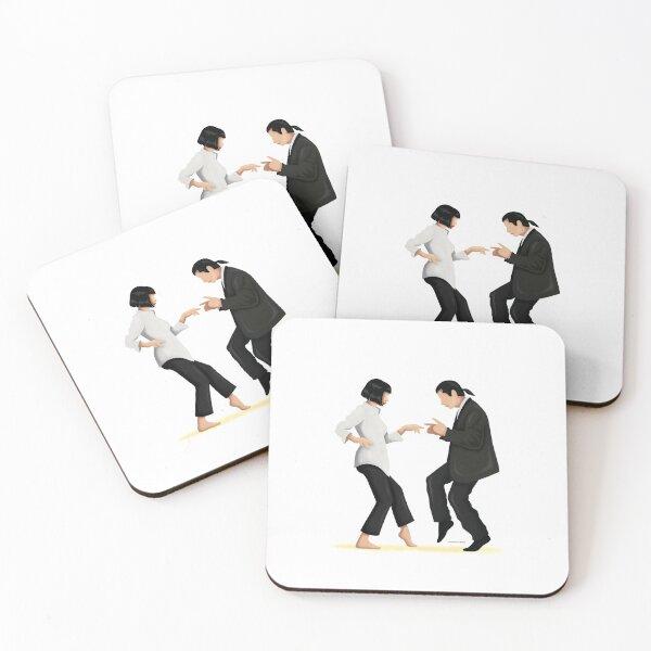 Pulp Fiction Twist Dance | Pop Culture Art Coasters (Set of 4)