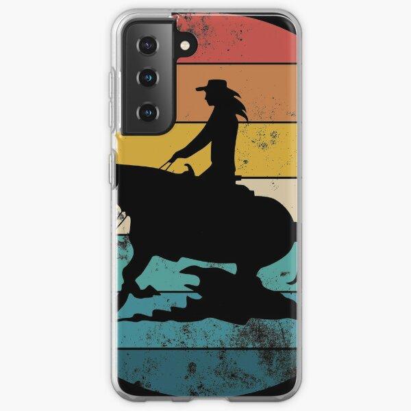 Deslizamiento parada Western riding Reining regalo Funda blanda para Samsung Galaxy