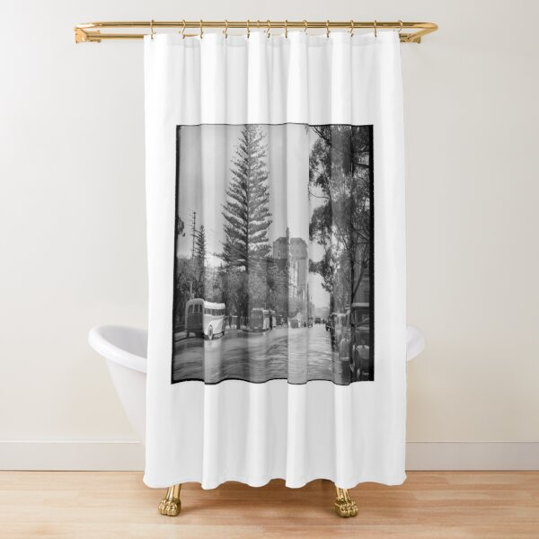St George's Terrace, Perth, July 1939, State Library of Western Australia Shower Curtain