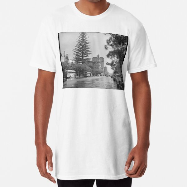 St George's Terrace, Perth, July 1939, State Library of Western Australia Long T-Shirt