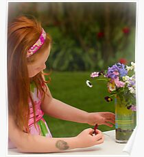 ARRANGING FLOWERS Poster