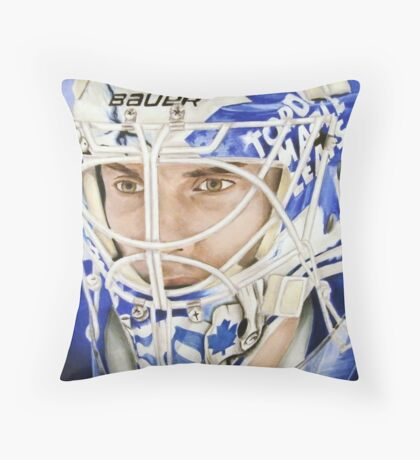 Jonas Gustavsson (Toronto Maple Leafs) Throw Pillow