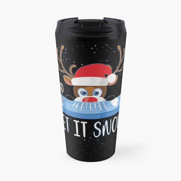 Let It Snow Reindeer Travel Mug