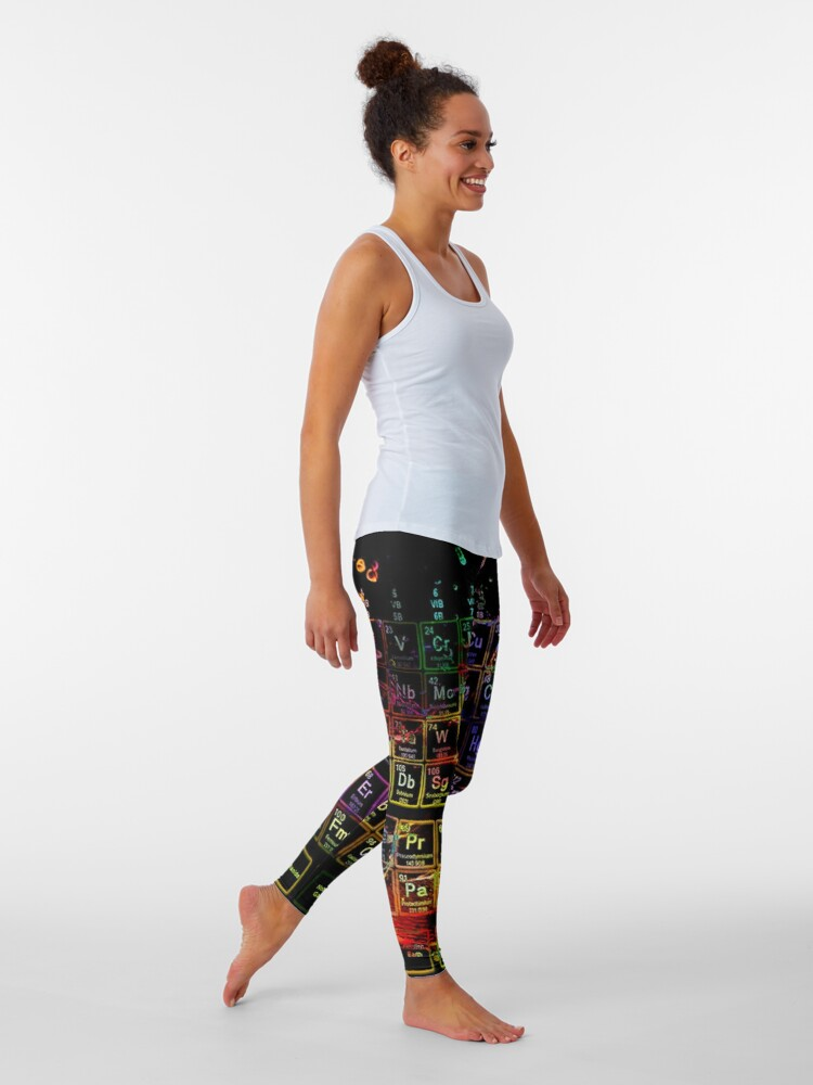 Alternate view of Periodic Table of the Elements Leggings