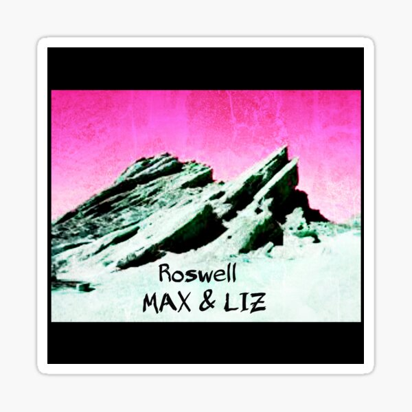 roswell tv show pink sky Max & Liz Sticker