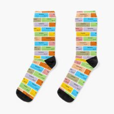 Gift for Anaesthetist / Anesthetist / Anesthesiologist Drug Label Pattern Socks