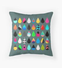 Colorful Rain Throw Pillow