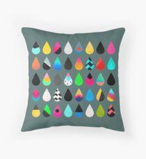 Colorful Rain Throw Pillow