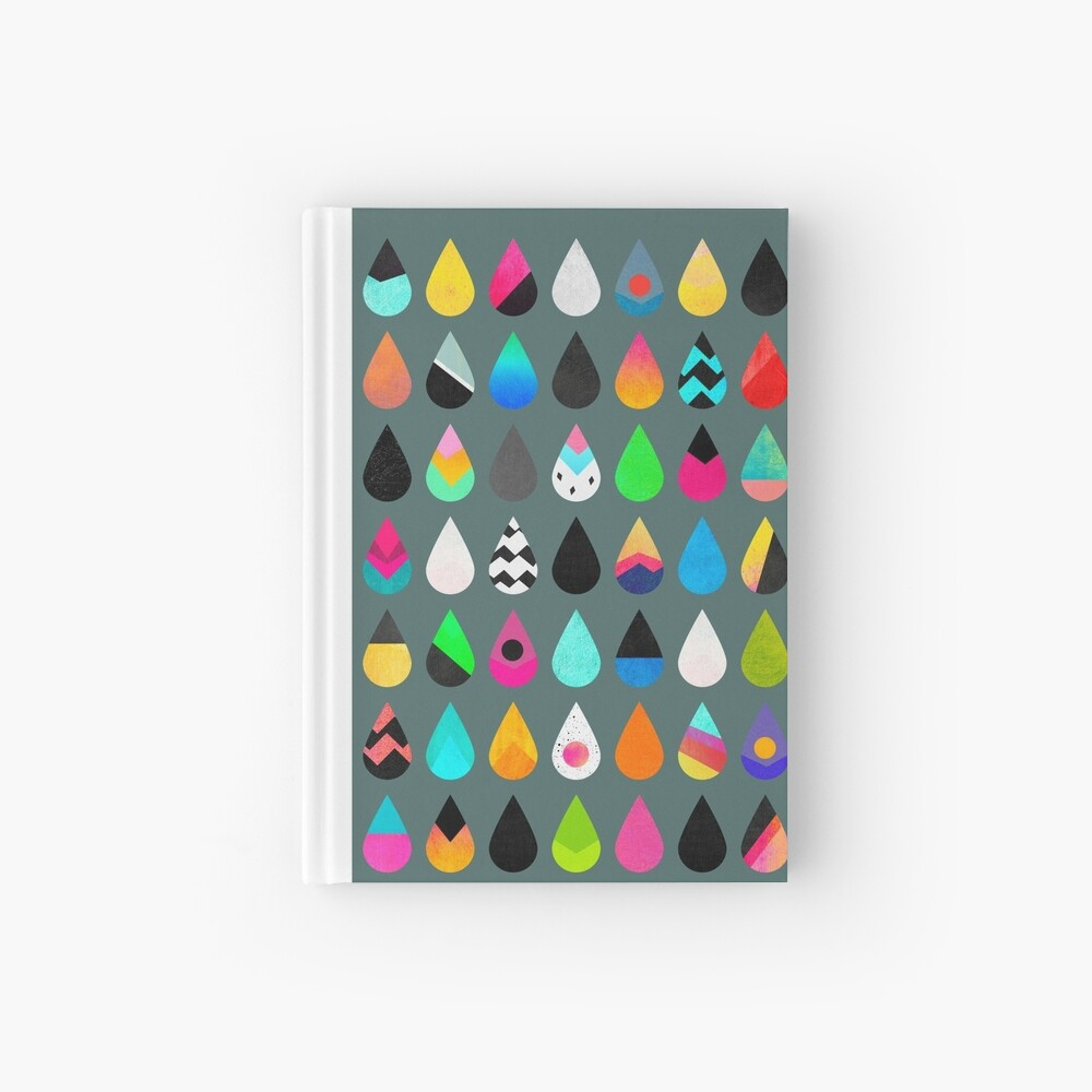 Colorful Rain Hardcover Journal
