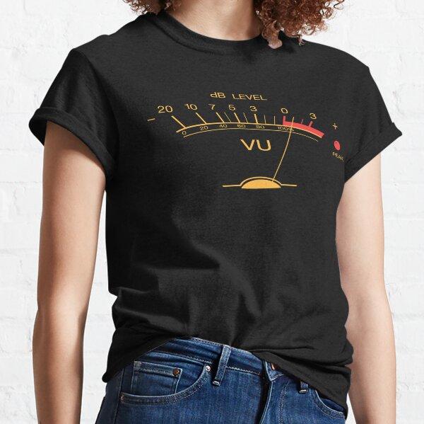 Volume VU Meter Vintage Audio Engineer Recording Studio Gear Head Musician Guitar Shirt Mug Sticker and MORE Classic T-Shirt