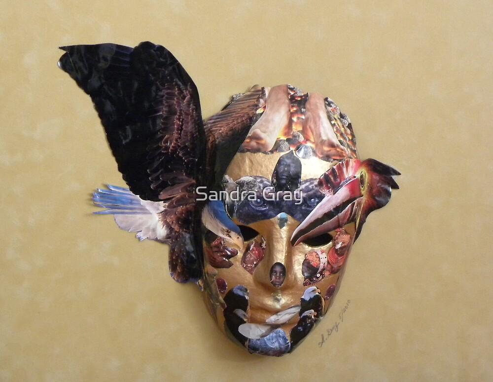 Winged Bird Mask by Sandra Gray