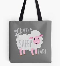 Crazy Sheep Lady Tote Bag